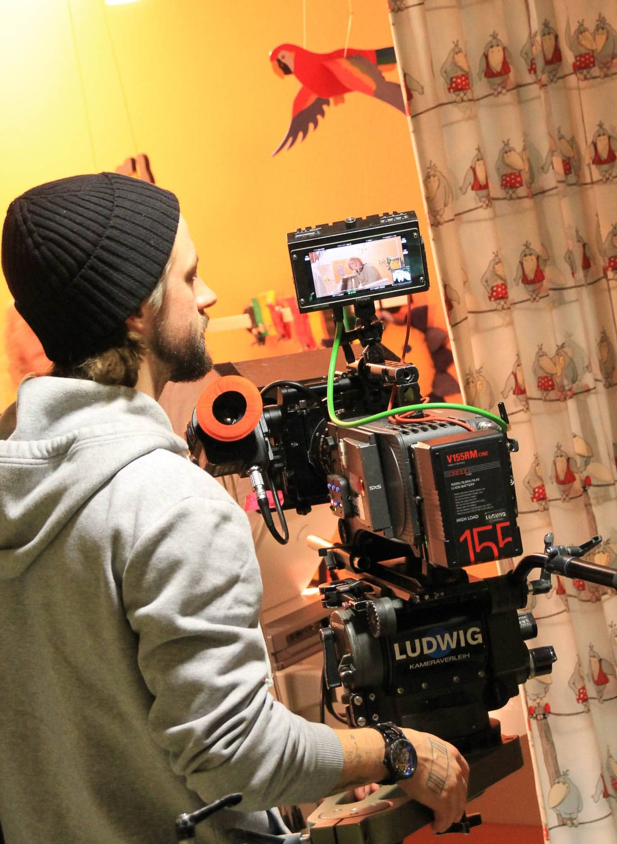 Kameramann Arri Alexa behind the scenes